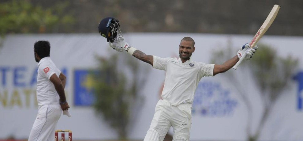 Shikhar Dhawan missed his first test Double Century but scores these five records
