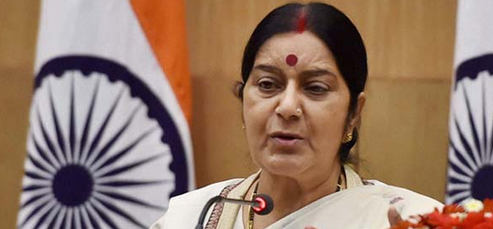 sushma tells bangladesh PM, India fully supporting Bangladesh over Rohingya issue