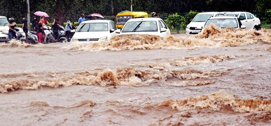 Chandigarh witnesses heaviest rain in past decade