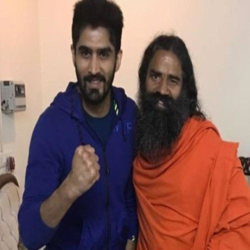 baba ramdev statement on twitter for doklam during Boxer vijendra victory