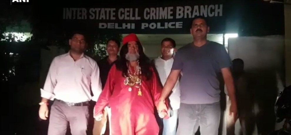 Swami Om arrested from Bhajanpura, by inter-state cell of crime branch