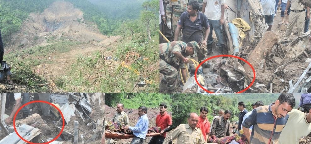 Himachal Pradesh Landslide Sweeps Away Two HRTC Buses In Mandi fifty feared dead