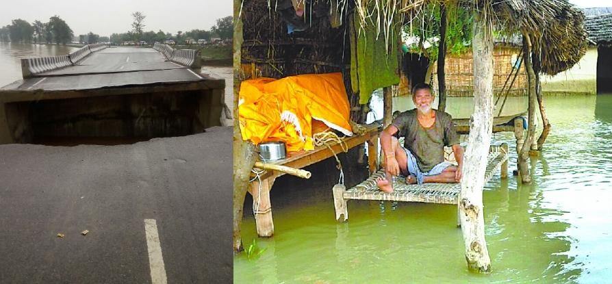flood becomes disastrous in districts in Uttar Pradesh.