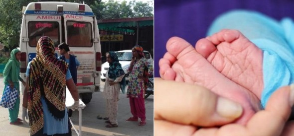 woman gave birth to a baby in an ambulance