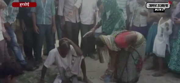 man beaten up who attempting to rape a minor girl in hardoi