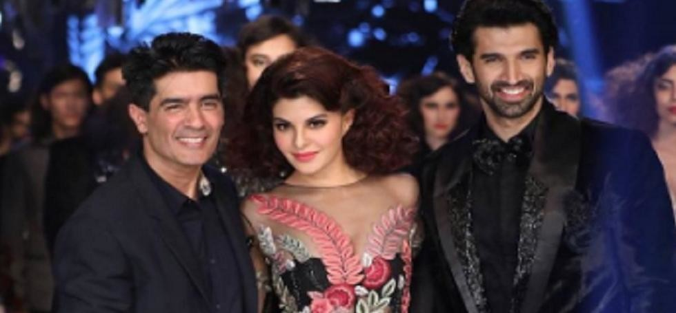 jacqueline fernandez and aditya roy Kapur walked at Lakme fashion week for Manish Malhotra