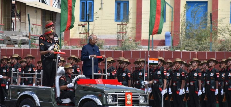 Pics: president ramnath kovind first time visit in leh presented Presidents Colours to Ladakh Scouts