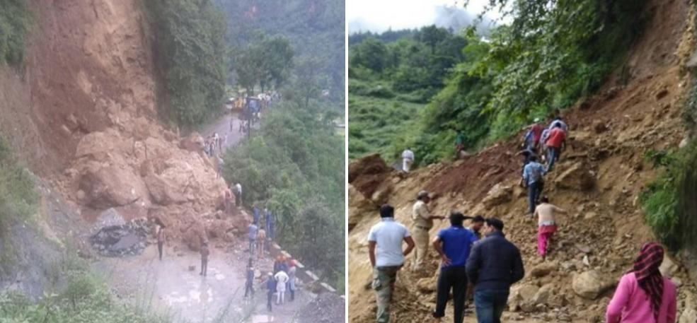 pics of badrianth highway after block due to landslide