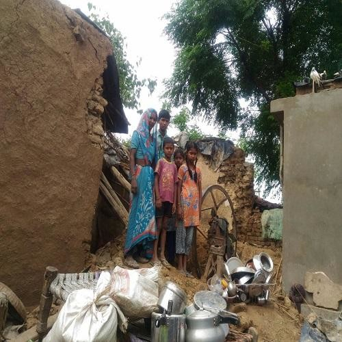 Due to torrential rains in the district, many children survived the death, photos