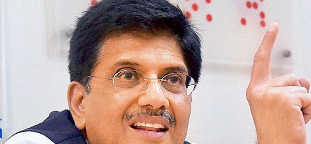 Railway Minister Piyush Goyal saying, all unmanned railway crossings over in a year