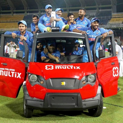 MS Dhoni and Indian Cricket Team Polaris Multix Ride in Sri Lanka After 5-0 white wash