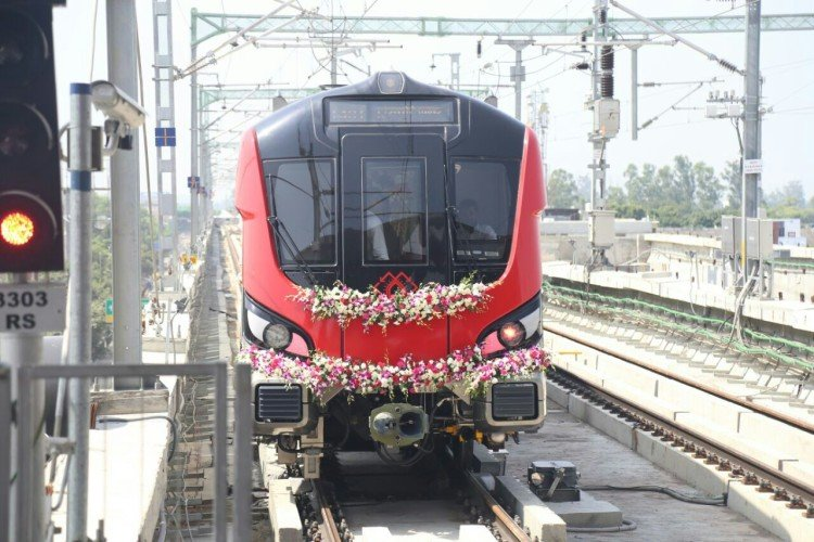 efficiency test of lucknow metro track.