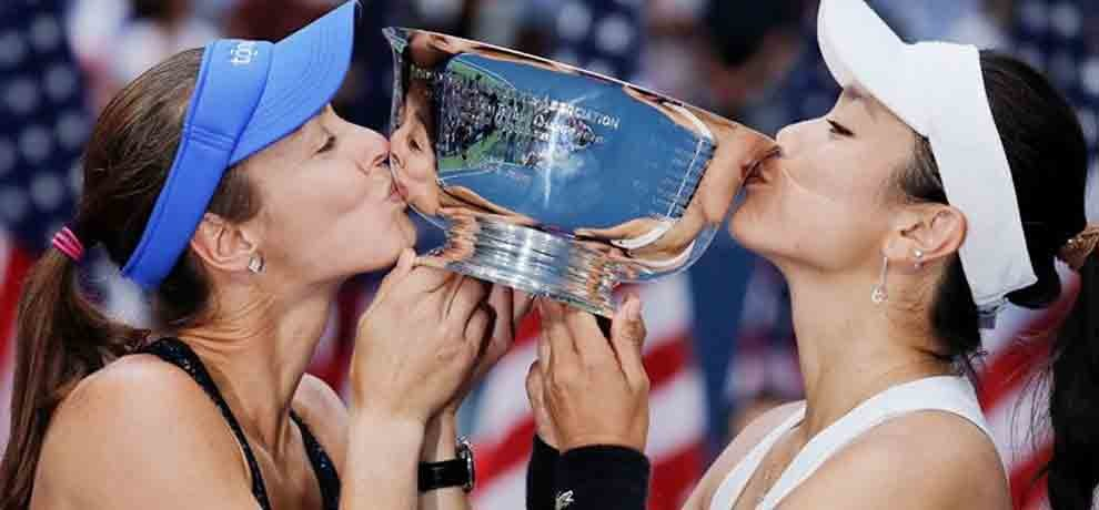 martina hingis and chan won womens doubles title in us open
