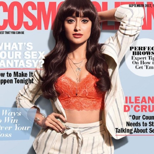 Bollywood actress Ileana D'Cruz photo shoot for Cosmopolitan India magazine
