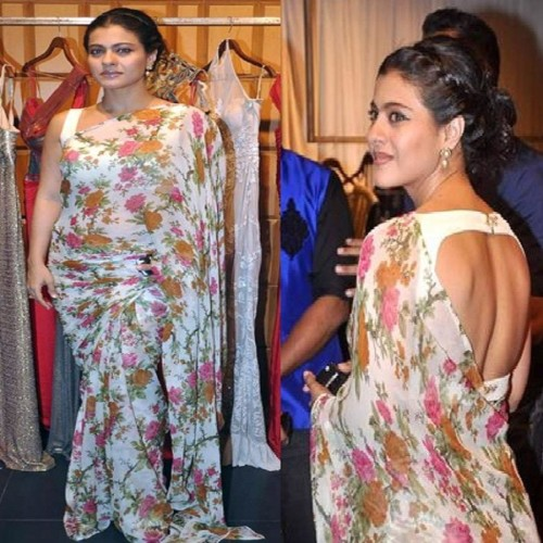 Bollywood actresses wear floral print on saree you can also try it