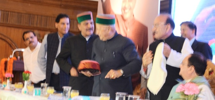 Chief Minister Virbhadra Singh politics over Himachali green colour cap