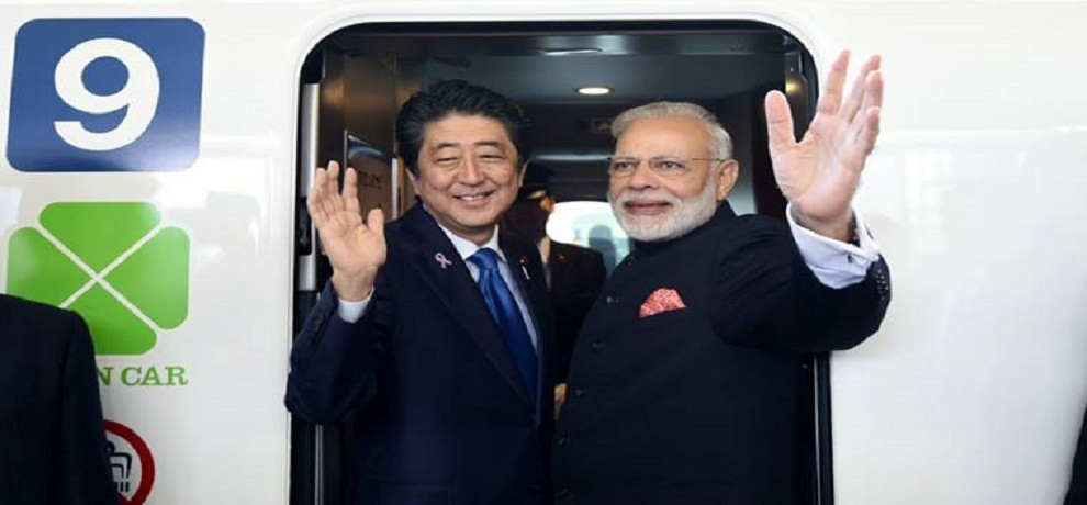 PM Modi Shinzo Abe to Lay Foundation Stone of Ahmedabad to Mumbai bullet train Project