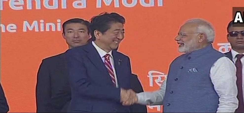 japan pm shinjo abe said that his dream is to travel next time in a indian bullet train