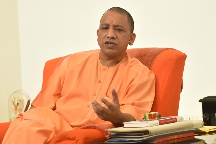 a man arrested after uploading Offensive photo of CM Yogi Adityanath on social media in hathras