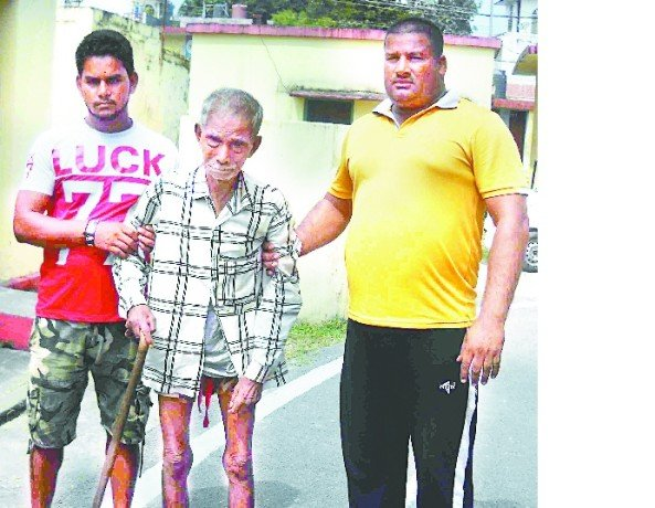 Old sharda rescued, swimmer saved by police