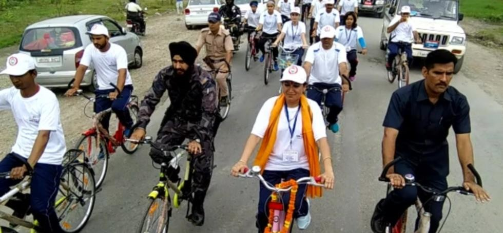 cycle rally held in dehradun