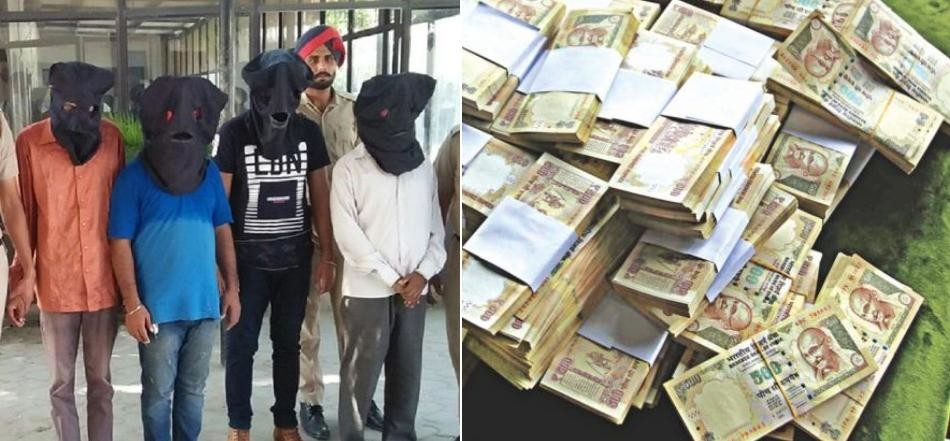 4 arrested with old currency of 68 lakh, khanna news