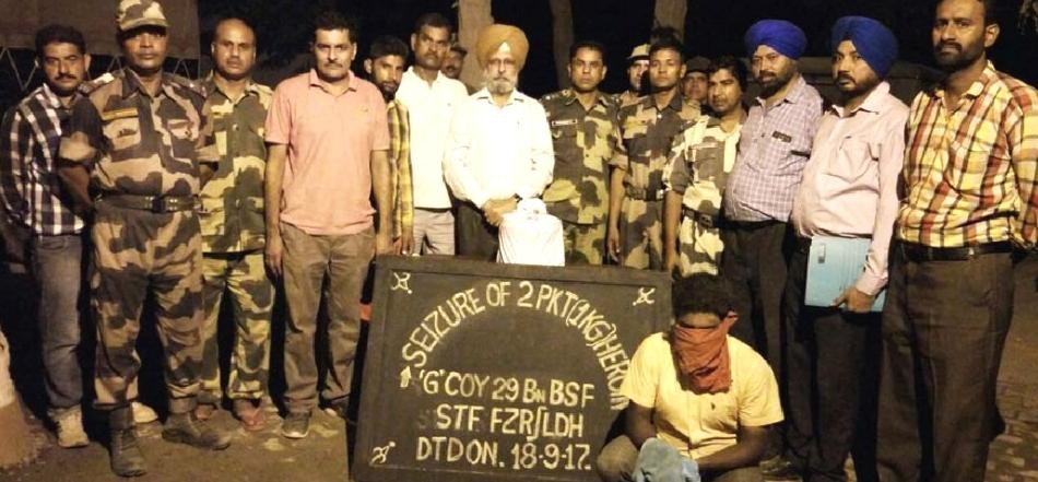 Drugs smuggling on the border, BSF caught 14 kg heroin in 2 days