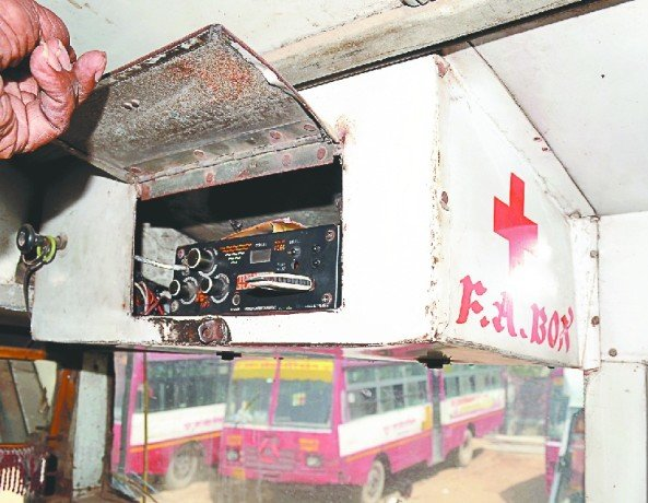 roadways bus fist aid box become music system