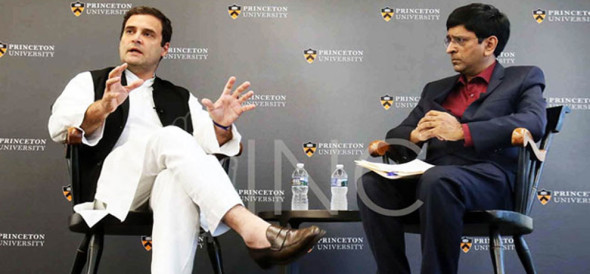 rahul gandhi in princeton university, how india and china would reshape the world