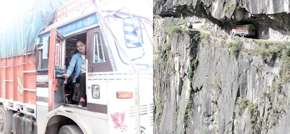 Himachal girl poonam drive truck on the world most dangerous shimla kinnaur highway