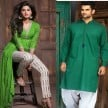 try these green color outfits on the second day of Navratri