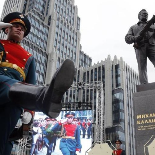 Russia: A Statue of Mikhail Kalashnikov inventor of most lethal weapon AK-47, see photos