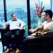 ms dhoni met n srinivasan in india cements office