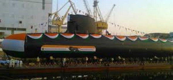 first submarine of the Scorpene series Kalwari received by Indian Navy