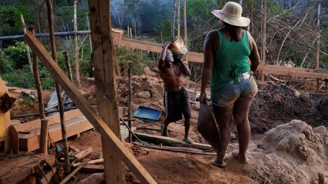 illegal mining is way of life in brazil