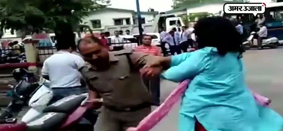 Litigation file against women judge jaya pathak on the charges of beating police man in dehradoon