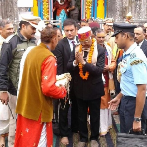 president told about his wish during puja in badrinath kedarnath