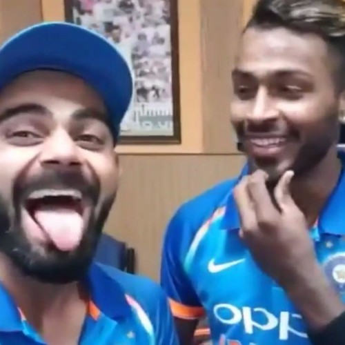 virat kohli reveals hardik pandya does not know 5 words of the songs he listens to