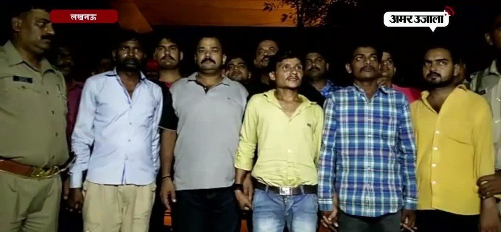 Police encounter with kidnappers in lucknow late night