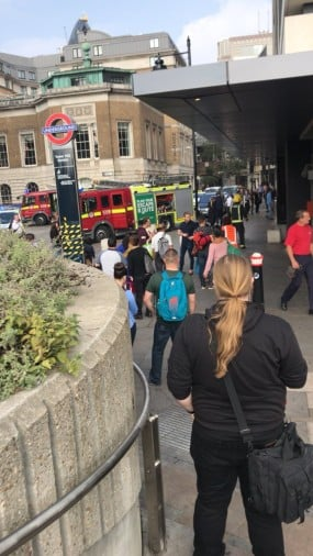 explosion in tower hill station in london