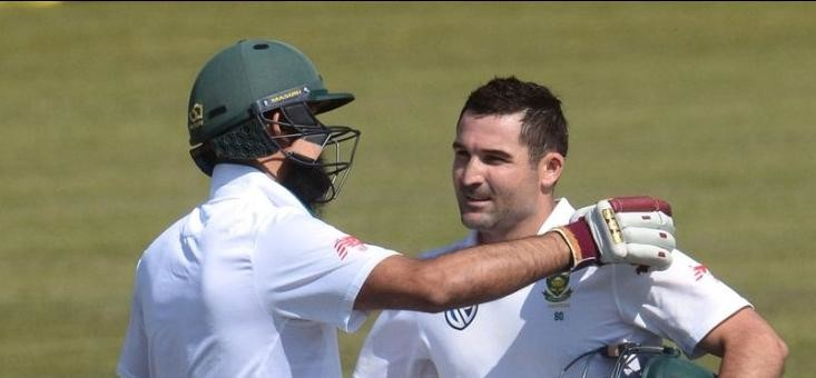 South Africa vs Bangladesh day one: dean Elgar's century put south Africa on drivers seat
