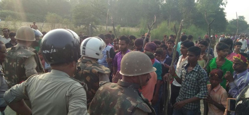 ruckus in barabanki over emersion of statues.