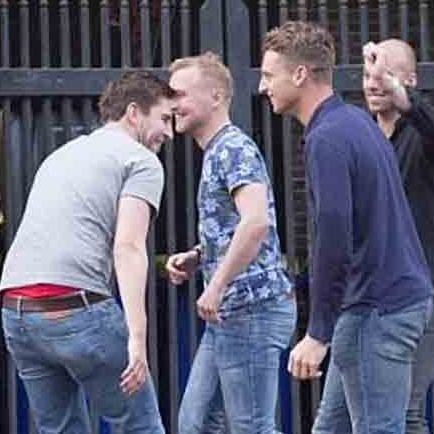 jos buttler and company fools around with sex toy in amsterdam