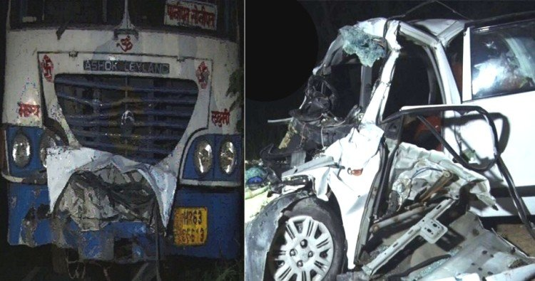 5 people killed in a road accident in Sonipat