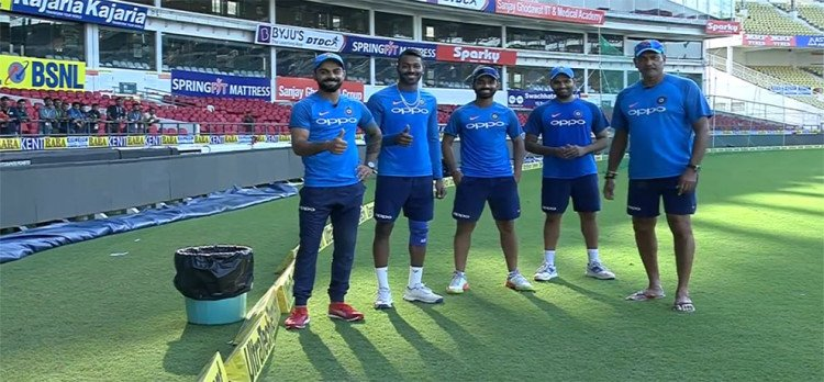 Team india Joins hand with  Swachhata Hi Seva' movement, BCCI launch Special Video
