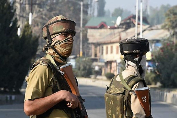 militants fire grenade on crpf camp in tral sector jammu kashmir