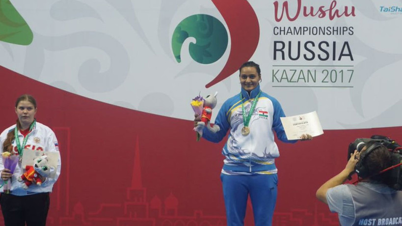 pooja kadian created history, won indias first ever gold medal at wushu world championship