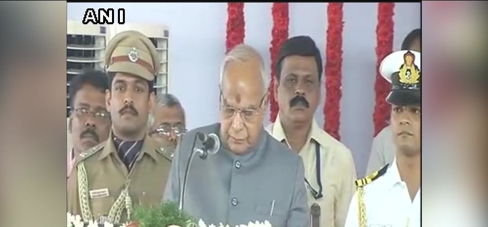 banwari lal purohit takes oath as governer of tamil nadu