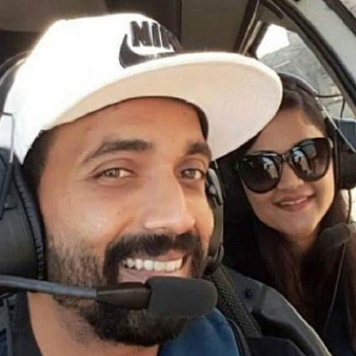 Ajinkya Rahane enjoys time off with wife in Seychelles
