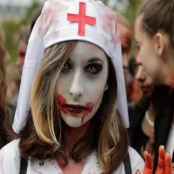 what is World Zombie Day Photos wiki Paris London streets